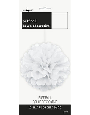 Decorative White Pom-Pom - Basic Colours Line
