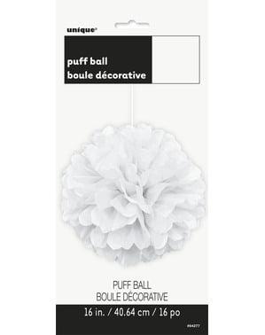 Pompon décoration blanc - Gamme couleur unie