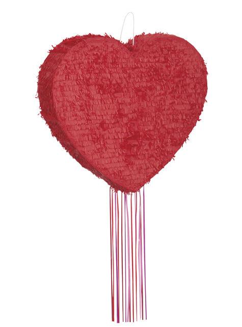 Piñata con forma de corazón
