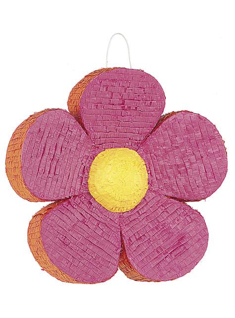 Piñata de flor colorida