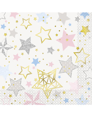 16 grote servette (33x33cm) - Twinkle Little Star