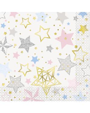 Zestaw 16 dużych serwetek - Twinkle Little Star