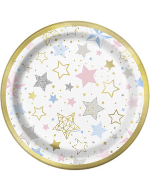 8 pratos de sobremes (18 cm) - Twinkle Little Star