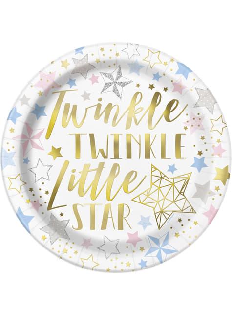8 platos (23 cm) - Twinkle Little Star