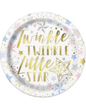 8 platos (23 cm) - Twinkle Little Star