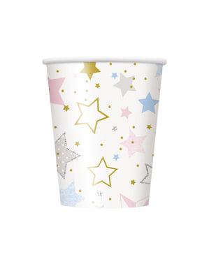 סט 8 כוסות - נצנץ כוכב קטן