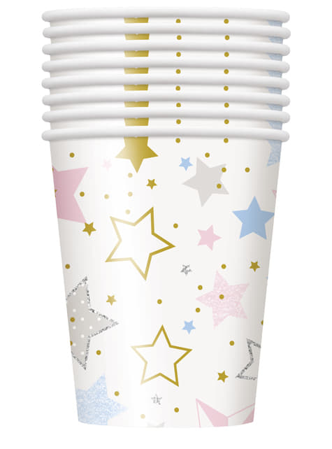 8 vasos con estrellas - Twinkle Little Star - para tus fiestas