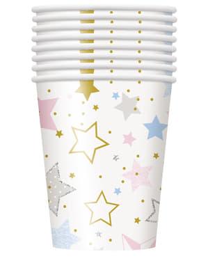 Sæt af 8 kopper - Twinkle Little Star