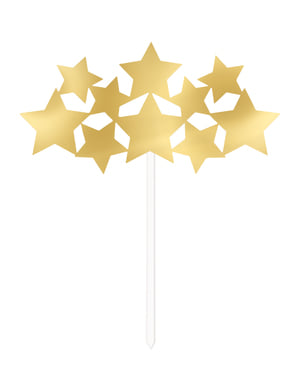 Gold cake stars decoration