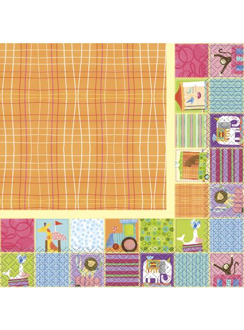 16 grandes serviettes - Circus Animal
