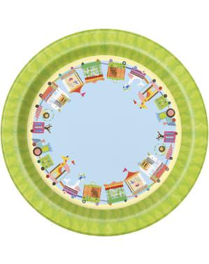 8 dessertborde (18 cm) - Circus Dieren