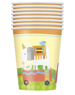 Комплект от 8 чаши - Circus Animal