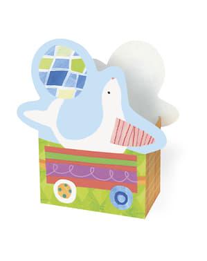סט 8 קופסאות מתנה - קרקס החיות