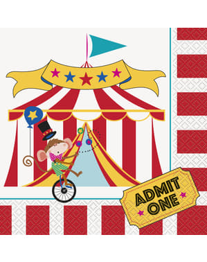 16 Große Serviette (33x33 cm) - Circus Carnival