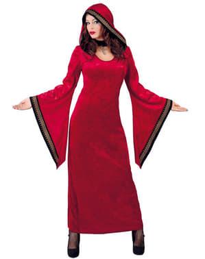 Satanisk kvinna Röd Maskeraddräkt