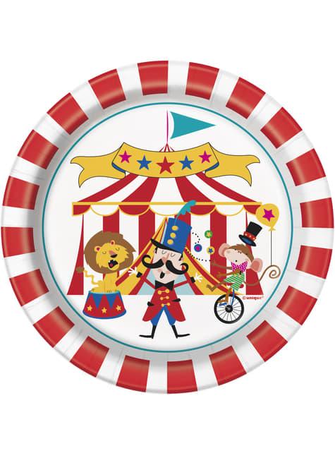 8 platos pequeños (18 cm) - Circus Carnival