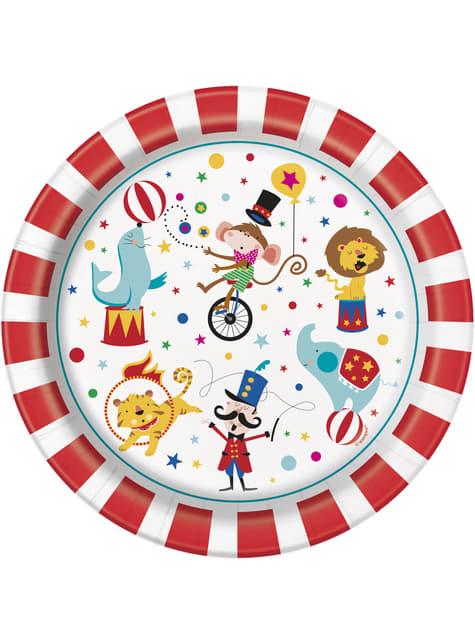 Set of 8 plates - Circus Carnival