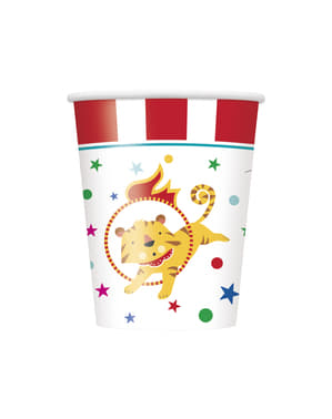 8 Becher - Circus Carnival