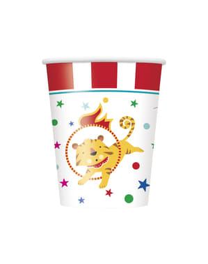 Sett med 8 kopper - Sirkus Karneval