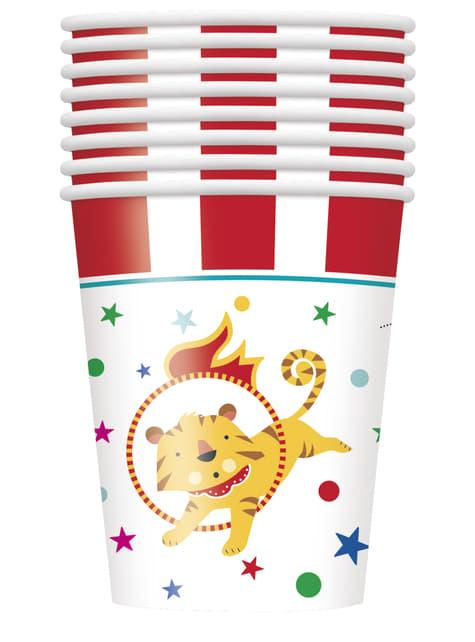 8 vasos - Circus Carnival - para tus fiestas