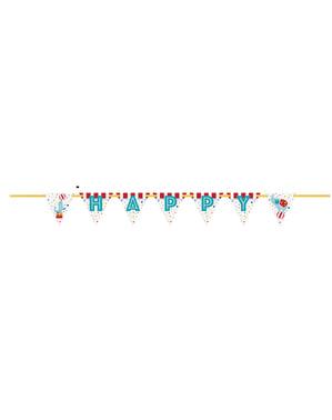 Happy Birthday girlander - Sirkus Karneval
