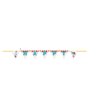 Happy Birthday viiri - sirkus karnevaali