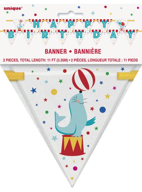Happy Birthday garland - Circus Carnival