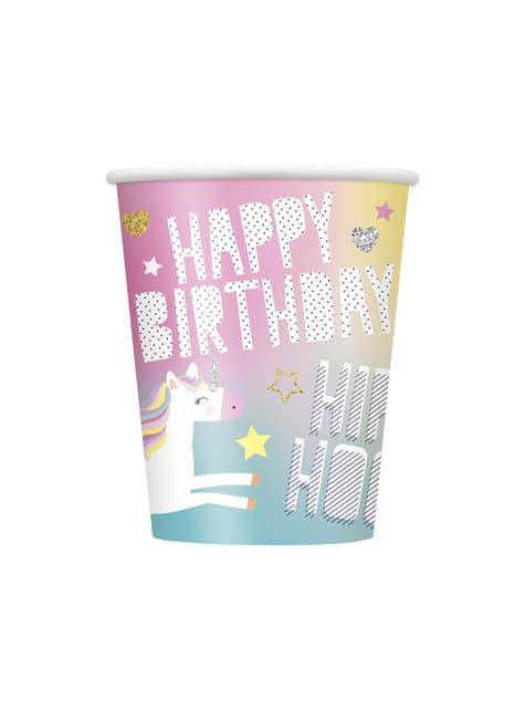 8 vasos de unicornio - Happy Unicorn