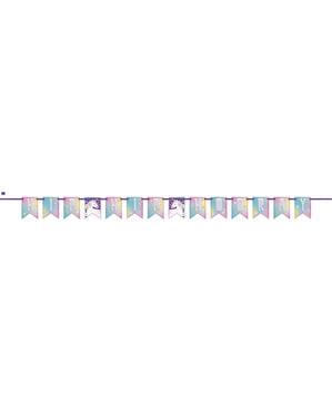 Girlanda urodzinowa z wesołym jednorożcem - Unicorn