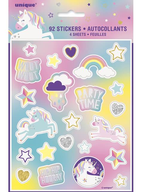 Happy Einhorn Aufkleber Set 4-teilig - Unicorn