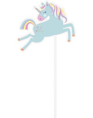 Zestaw 10 rekwizytów do zdjęć z wesołym jednorożcem - Unicorn