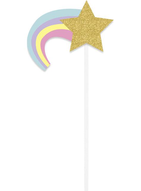 10 kpl photocall Happy Unicorn kylttiä - Yksisarvinen