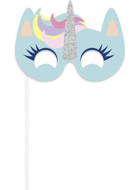 10 accessoires pour Photo booth de licorne joyeuse - Unicorn
