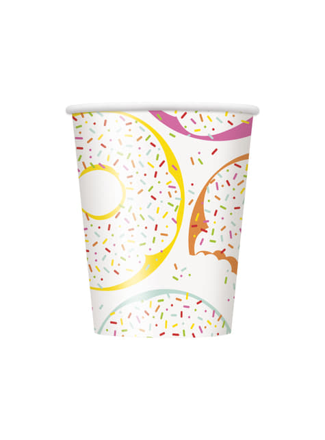 Set of 8 cups - Donut Party