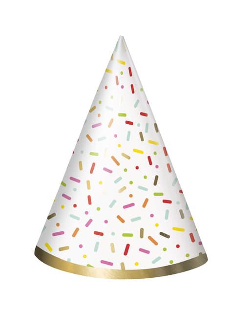 8 gorritos de fiesta - Donut Party