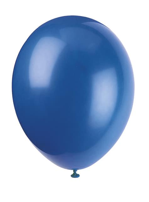 10 ballons couleur bleu - Gamme couleur unie