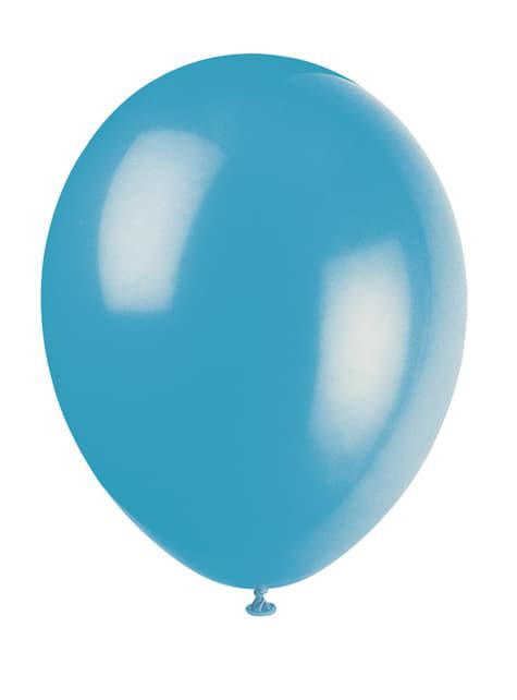 10 kpl turkoosia ilmapalloa - Perusvärilinja
