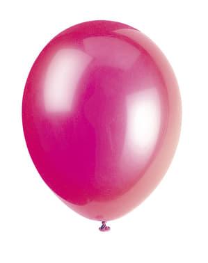 10 baloane culoarea fucsia (30 cm) - Gama Basic Colors