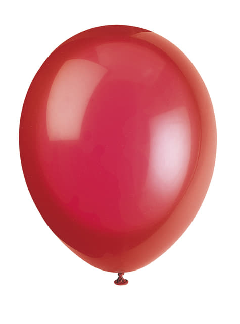 10 red balloon (30 cm) - Basic Colours Line