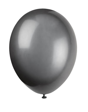 10 balões cor pret (30 cm) - Linha Cores Básicas