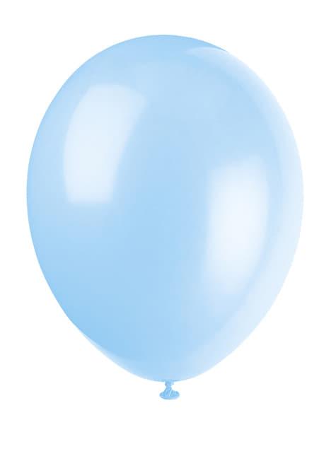 10 kpl taivaansinistä ilmapalloa - Perusvärilinja