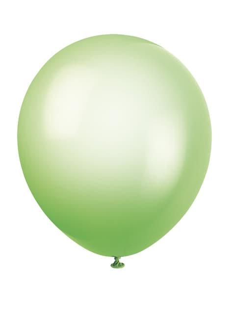 10 ballons couleurs fluos variés - Gamme couleur unie
