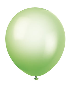 10 globos colores neón variados (25,4 cm) - Línea Colores Básicos