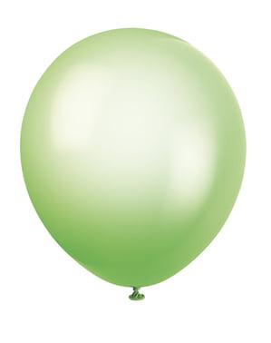 10 diverse neon ballonne (25,4 cm) - Basis Kleuren Lijn