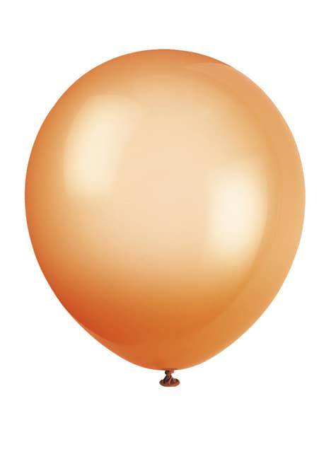 Zestaw 10 różnokolorowych neonowych balonów - Linia kolorów podstawowych