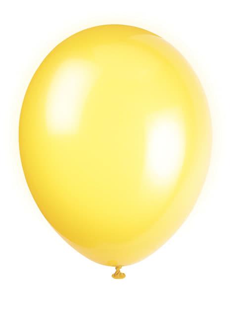 Set de 10 globos color amarillo - Línea Colores Básicos