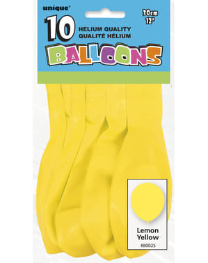 10 balões cor amarel (30 cm) - Linha Cores Básicas