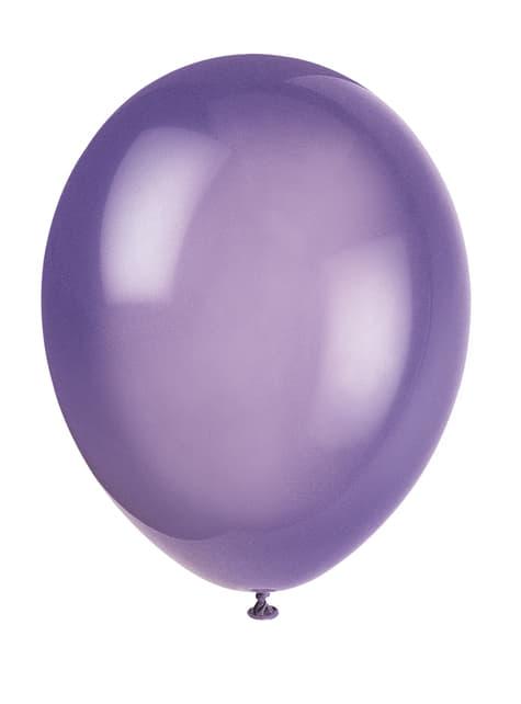 Conjunto de 10 balões cor roxa - Linha Cores Básicas