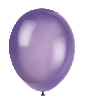 Zestaw 10 fioletowych balonów - Linia kolorów podstawowych