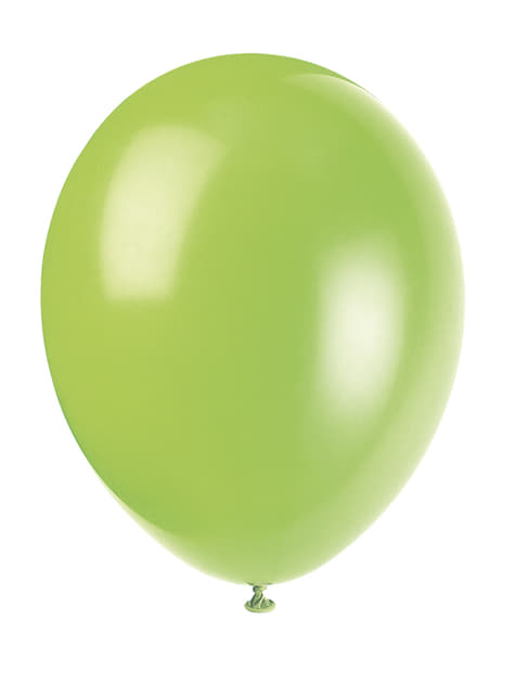 10 neon green balloon (30 cm) - Basic Colours Line